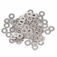 100PCS Stainless Steel Washers Metric Flat Washer Screw Kit M3 M4 M5 M6 M8 M10