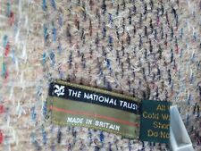 National Trust Collection - Montacute Check Wool Blanket Throw - Aqua or Gold