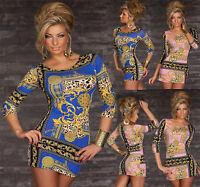 TOP WOMEN'S CLUBBING MINI DRESS SEXY LADIES PARTY BLOUSE LEO SHIRT SIZE 8 10 12