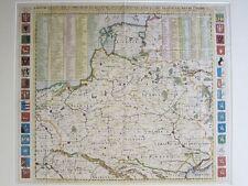 Carte De Pologne Avec La Chronologie Des Rois...; Chatelain; ca. 1705