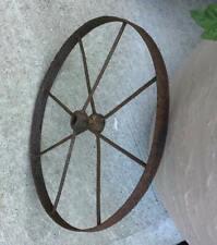 Antique Cast Iron 16� Cart Wagon Wheel 8 Spoke Decorative Rustic Vintage