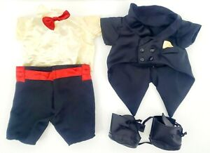 1985 Teddy Ruxpin Tuxedo Outfit with Shoes 4 Piece