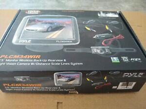 """PLCM34WIR PYLE 3.5"""" Wireless Rearview Camera & Monitor System with Night Vision"""