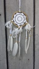 NEW HANDMADE WHITE DREAM CATCHER FEATHERS HELP SLEEP NO BAD DREAMS / dclace12