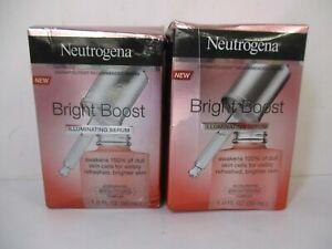 2 NEUTROGENA BRIGHT BOOST ILLUMINATING SERUM 1 oz EXP 5/22+ JL 12881