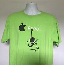 Apple IPOD iFeed Operation Others 2007 T Shirt Mens Large green High School list
