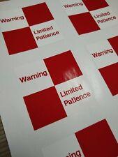 British Railways 'Limited Patience' sticker (70mm)