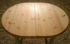 HAND PAINTED SOLID PINE EXTENDABLE DINING TABLE