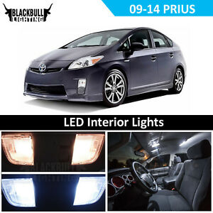 White LED Interior Light Replacement Kit for 2009-2014 Toyota Prius 8 bulb