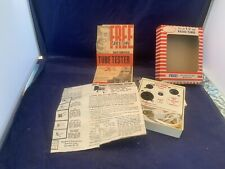 Vintage Home Television and Radio Tube Tester Tv Original Box Woodward Schmacher