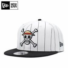 ONE PIECE × NEW ERA 9FIFTY SNAPBACK CAP LUFY WHITE STRIPE PRINT/BLACK japan
