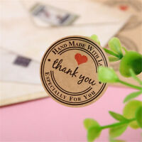 500PCS Round Thank You Stickers Sealing Labels Wrapping Supplies Packaging Tags