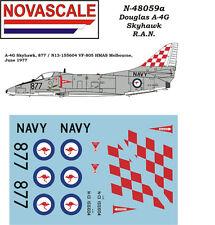 RAN A-4G Skyhawk Mini-Set Decals 1/48 Scale N48059a