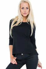 Maglie e camicie da donna maniche a 3/4 nero classico