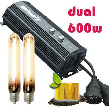 Hydroponics Grow Light Nanolux 600w DUAL lamp Digital Dimmable Ballast MH HPS