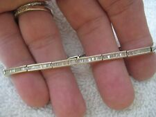 2 ct White gold baguette diamond tennis (line) bracelet 7.3 inches .