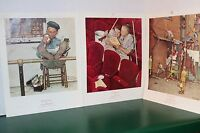 The Homecoming,Charwoman,Lion Keeper-Rockwell Lithograph 1945'46'54Curtis Pub Co
