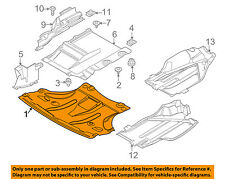 BMW OEM 04-10 X3 Splash Shield-FR Under Radiator/Engine Cover 51713402370
