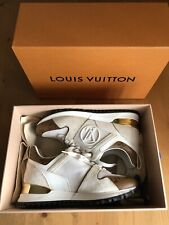 Authentic Louis Vuitton Run Away White Leather Monogram Sneakers Size EU 36 US 6