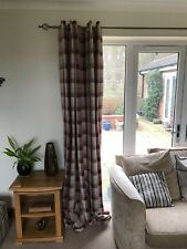 dunelm red  balmoral lined curtains 90x90