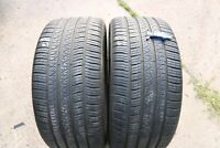 PAIR OF PIRELLI SCORPION ZERO 295/40/R21 108Y TYRES M&S JAG ALL SEASON *6.3MM*