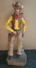 "BIG Cowboy Statue Western Figure Universal Statuary Corp Chalkware Man 1979 17"""