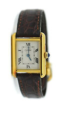 Cartier Tank Vermeil Gold Plated Sterling Silver Watch