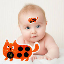 5pcs Kids Cartoon Sticker LCD Forehead Thermometer Body Fever Head Safety Care