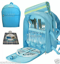 LICHFIELD 4 PERSON PICNIC SET, COOL SECTION BACKPACK, RUG, TABLEWARE & CUTLERY