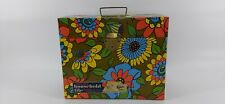 VTG 1960's Flower Power Mod Groovy Metal File Box Ballonoff Metal Products