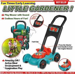 Kids Lawn Mower With Sound Garden Set Pretend Play Garden Tools Activity Mower