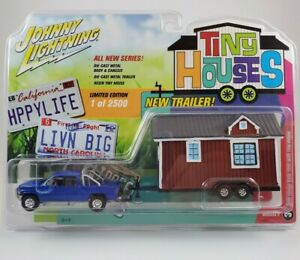 Johnny Lightning Tiny Houses 1996 Blue Dodge Ram 1500 with Tiny House (1/ 2500)
