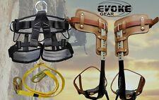 Tree Climbing Spike Set Pole Spurs Climber Adjustable With Pro Harness Lanyard