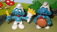 Smurfs Hamburger & Fries Smurf Collection Bundle & Save! Fast Food Friends Lot