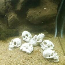 1X Design Aquarium Skull Head Ornament Fish Tank Decoration~
