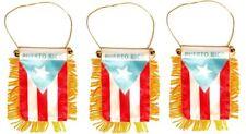 Lot Of 3 Puerto Rico Mini Banner 4 x 6 Flag Car Window Rican Wholesale #3
