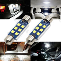 2x 41mm Festoon LED 3030 6SMD Canbus 6000K White Car Interior Dome Light Bulb