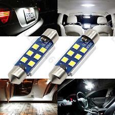 2x 41mm Festoon LED 3030 6SMD Canbus 6000K White Car Interior Dome Light Bulb