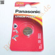 2 x CR1616 Lithium Power Batterie 3V 16mm 1.5mm  Panasonic Knopfzelle 2pcs