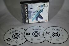 FINAL FANTASY VII 7 VIDEO GAME 3 DISCS set SONY PLAYSTATION 1 PS1 BLACK LABEL