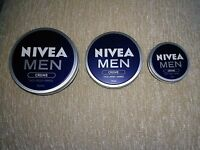 ORIGINAL NIVEA MEN CREAM Creme Face Body&Hands Moisturiser dry skin 30,75,150ml
