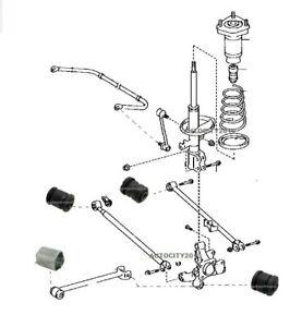 FOR LEXUS RX300 RX330 02-08 REAR LH OR RH TRAILING TRANSVERSE ROD ARM BUSH SET