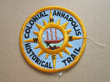 Colonial Annapolis Hist. Trail BSA Woven Cloth Patch Badge Boy Scouts Scouting