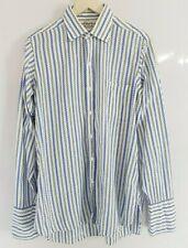 Turnbull & Asser The Churchill Rooms Vintage Blue White Striped Shirt Large  335
