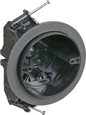 Carlon  4 in. Round  Plastic  4 gang Electrical Box  Black
