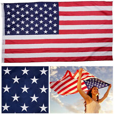 10×American Flag 3'x5' Ft Usa Us Sewn Stripes Embroidered Stars Brass Grommets