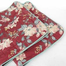 Laura Ashley Floral Magnolia Two King Size Pillowcases Pillow Sham Bedding