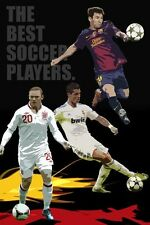 ALL STAR SOCCER POSTER Rooney Ronaldo Messi Football RARE HOT NEW 24x36