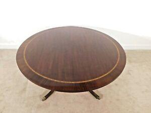 COUNCILL Furniture Company (BAKER) Inlaid Mahogany Center Dining Breakfast Table