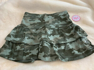 JUSTICE SKORT IN GREEN CAMO SIZE 10 ~ NEW!!